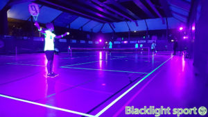 blacklight tennis glow in the dark
