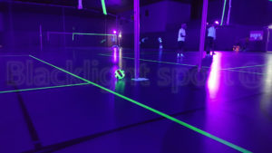 Glow in the dark volleybal close up