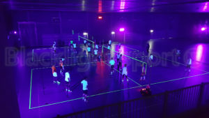 blacklight sporthal volleybal evenement