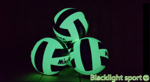 blacklight volleybal glow in the dark Blacklightsport.nl
