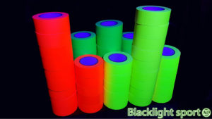 Tape blacklight UV glow in the dark