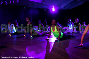 Yoga flow glow in the dark blacklight