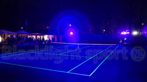 Blacklight sport tennis glow in the dark