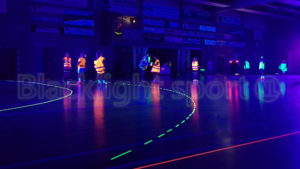 Blacklight handbal glow in the dark sport