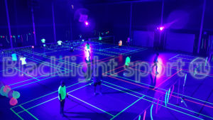 Blacklightsport badminton Meppeler Meppers