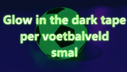 Blacklight glow neon zaalvoetbal